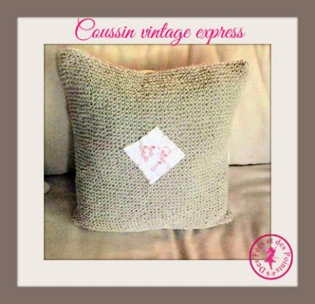 Coussin vintage express